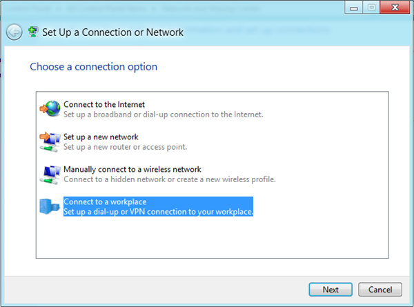 Set Up New Connection